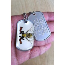 HIGH QUALITY STAINLESS STELL MILITARY DOG TAG COLOR - ARMOR, EPOXY COVER - TAG170CD